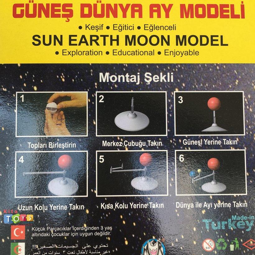 Gunes Dunya Ay Modeli Fen Doga Merkezi Kitatoys Com Da